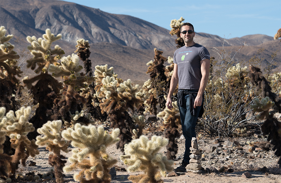 Marco Zennaro at the Cholla Cactus Garden